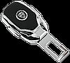 Заглушка - переходник ремня безопасности  с логотипом JAGUAR VIP КЛАССА (Авиационная сталь, кожа), фото 2