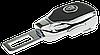 Заглушка - переходник ремня безопасности  с логотипом JAGUAR VIP КЛАССА (Авиационная сталь, кожа), фото 3