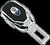Заглушка - переходник ремня безопасности  с логотипом MASERATI VIP КЛАССА (Авиационная сталь, кожа), фото 2