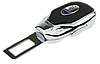 Заглушка - переходник ремня безопасности  с логотипом MASERATI VIP КЛАССА (Авиационная сталь, кожа), фото 3