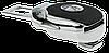 Заглушка - переходник ремня безопасности  с логотипом MASERATI VIP КЛАССА (Авиационная сталь, кожа), фото 4