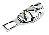 Заглушка - переходник ремня безопасности  с логотипом MASERATI VIP КЛАССА (Авиационная сталь, кожа), фото 5