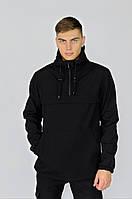 Куртка анорак мужская осенняя черная Softshell Walkman демисезонная весенняя Intruder+Ключница в подарок