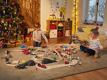 Мега набор деревянной железной дороги PlayTive 224 эл Германия