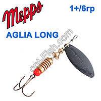 Блешня Mepps Aglia long czarna-1 black+/6g