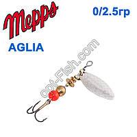 Блешня Mepps Aglia long srebrna-silver 0/2,5 g