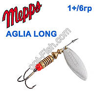 Блешня Mepps Aglia long srebrna-silver 1+/6g