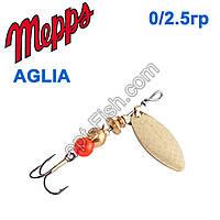 Блешня Mepps Aglia long zota-gold 0/2,5 g
