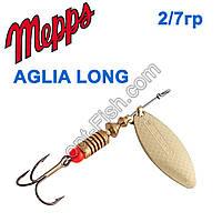Блесна Mepps Aglia long zota-gold 2/7g
