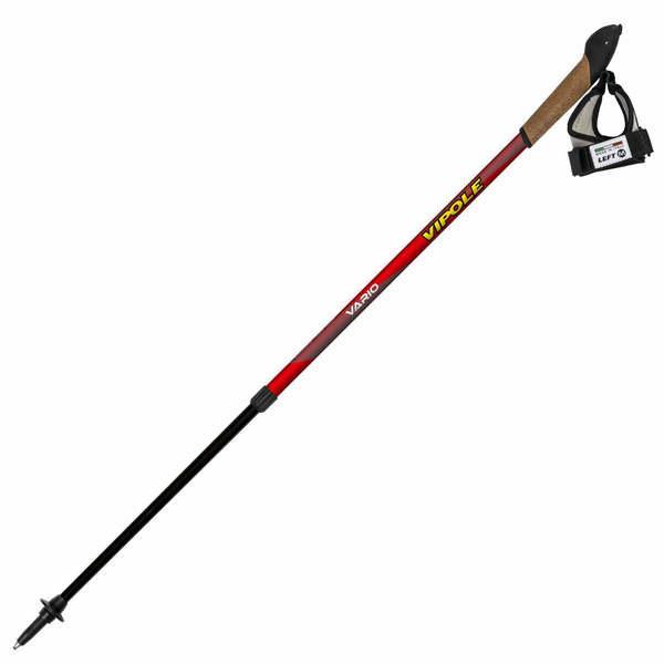 Палки для скандинавской ходьбы Vipole Vario Top-Click Red DLX S1948