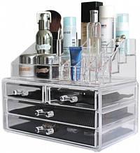 Органайзер дворівневий Cosmetic Storage Box з 4 скриньками для зберігання косметики та аксесуарів