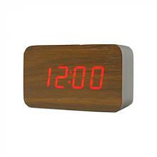 Електронні настільні годинники LED WOODEN CLOCK (VST 863-5)