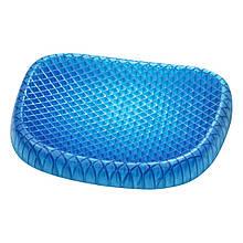 Ортопедическая гелевая подушка Egg Sitter для разгрузки позвоночника Синяя