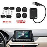 Система контроля давления в шинах Автомобильная с 4 датчиками, USB, Android, фото 4
