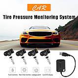 Система контроля давления в шинах Автомобильная с 4 датчиками, USB, Android, фото 6
