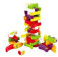 Деревянная игрушка Настольная игра «Фруктовая дженга», развивающие товары для детей.