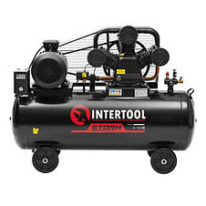 Компрессор 200 л, 7,5 кВт, 380 В, 10 атм, 1050 л/мин. 3 цилиндра INTERTOOL PT-0040, фото 2