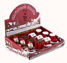 """Свічка новорічна """"Дід Мороз,Подарунок,Будиночок,Чобіток"""",h-4.5 см MA-20-80"""