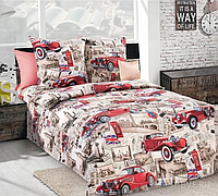 Двуспальное постельное белье Бязь Голд - тачки британія