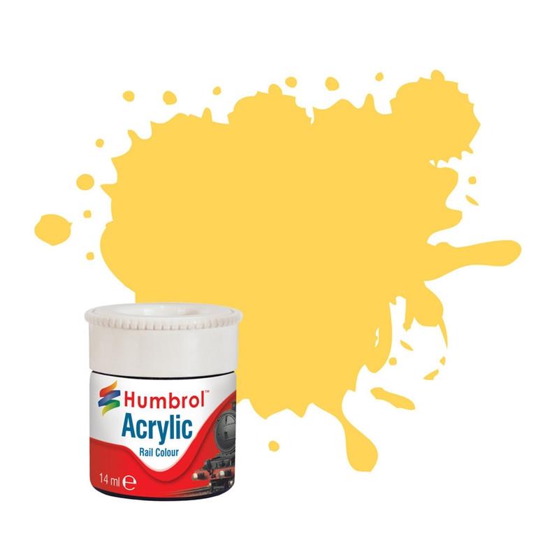 Желтый матовый. Краска водорастворимая акриловая. HUMBROL 407