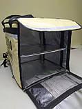 Каркасна термосумка - рюкзак для Dolphin кур'єрської доставки їжі і піци, на паралельних блискавках., фото 2