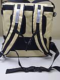 Каркасна термосумка - рюкзак для Dolphin кур'єрської доставки їжі і піци, на паралельних блискавках., фото 4