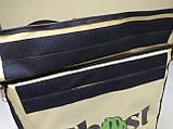 Каркасна термосумка - рюкзак для Dolphin кур'єрської доставки їжі і піци, на паралельних блискавках., фото 3