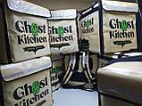 Каркасна термосумка - рюкзак для Dolphin кур'єрської доставки їжі і піци, на паралельних блискавках., фото 8