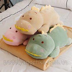 Іграшка-плед-подушка Діно бежевий