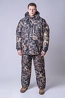 """Зимний костюм для охоты и рыбалки """"Мрамор"""" ткань mikrofajber подкладка флис полиуретановая пропитка"""