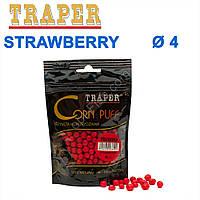 Воздушное тесто Traper Corn puff пуфи 4mm strawberry (клубника)