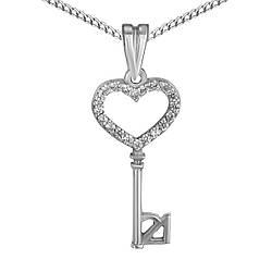 Подвеска Twiddle jewelry с кубическим цирконием (П109)