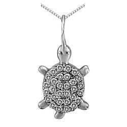 Подвеска Twiddle jewelry с кубическим цирконием (П118)