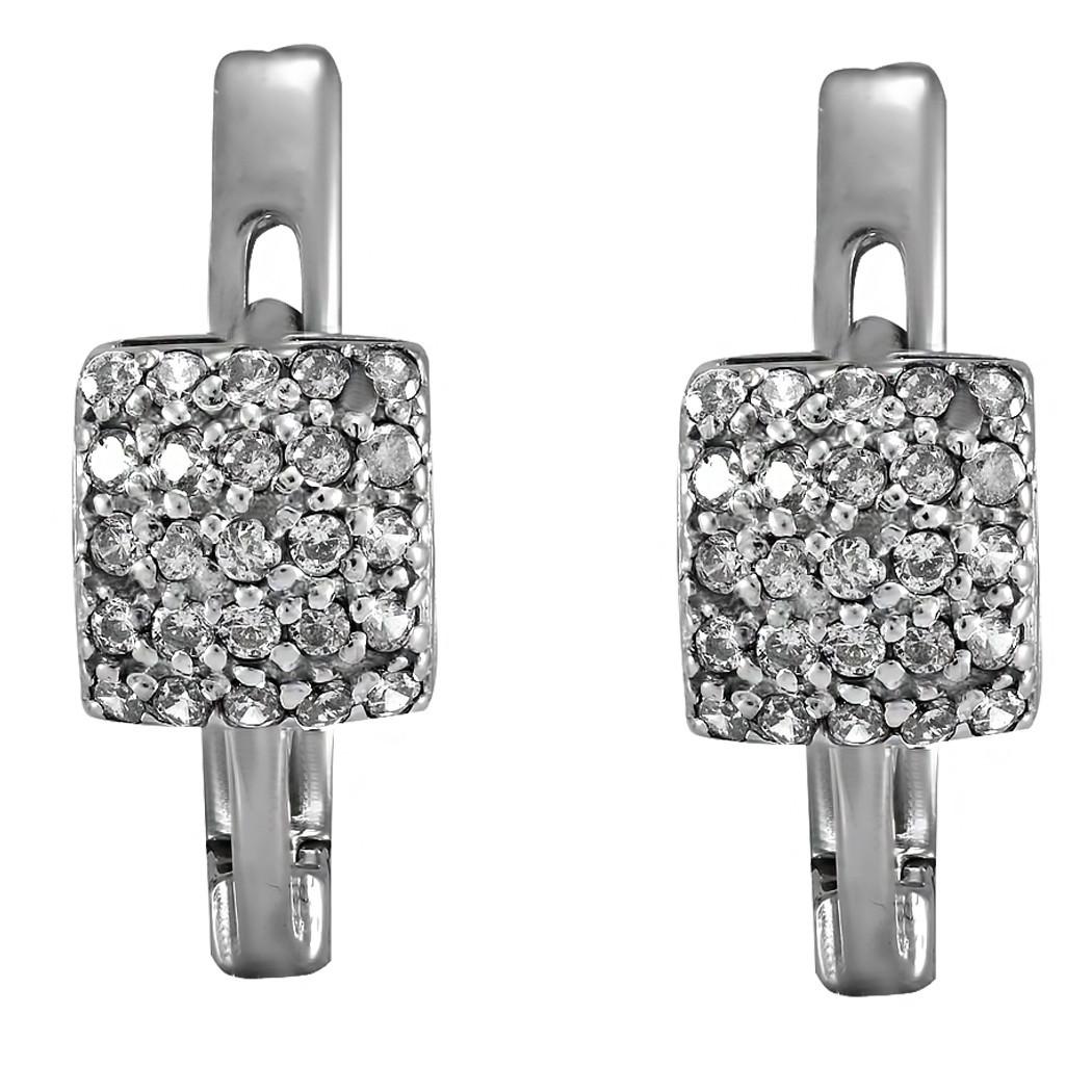 Серьги Twiddle jewelry с кубическим цирконием (С002)