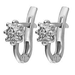 Серьги Twiddle jewelry с кубическим цирконием (С003)