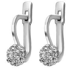 Серьги Twiddle jewelry с кубическим цирконием (С004)
