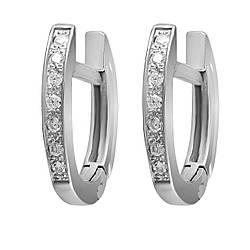 Серьги Twiddle jewelry с кубическим цирконием (С007)