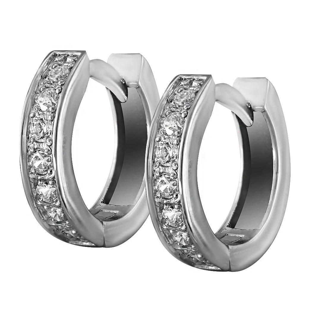 Серьги Twiddle jewelry с кубическим цирконием (С008)