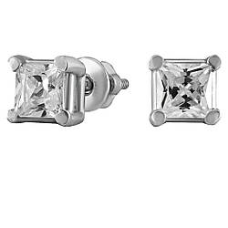 Серьги Twiddle jewelry с кубическим цирконием (С013)