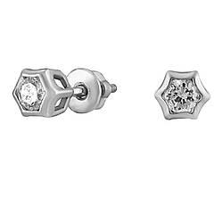 Серьги Twiddle jewelry с кубическим цирконием (С016)