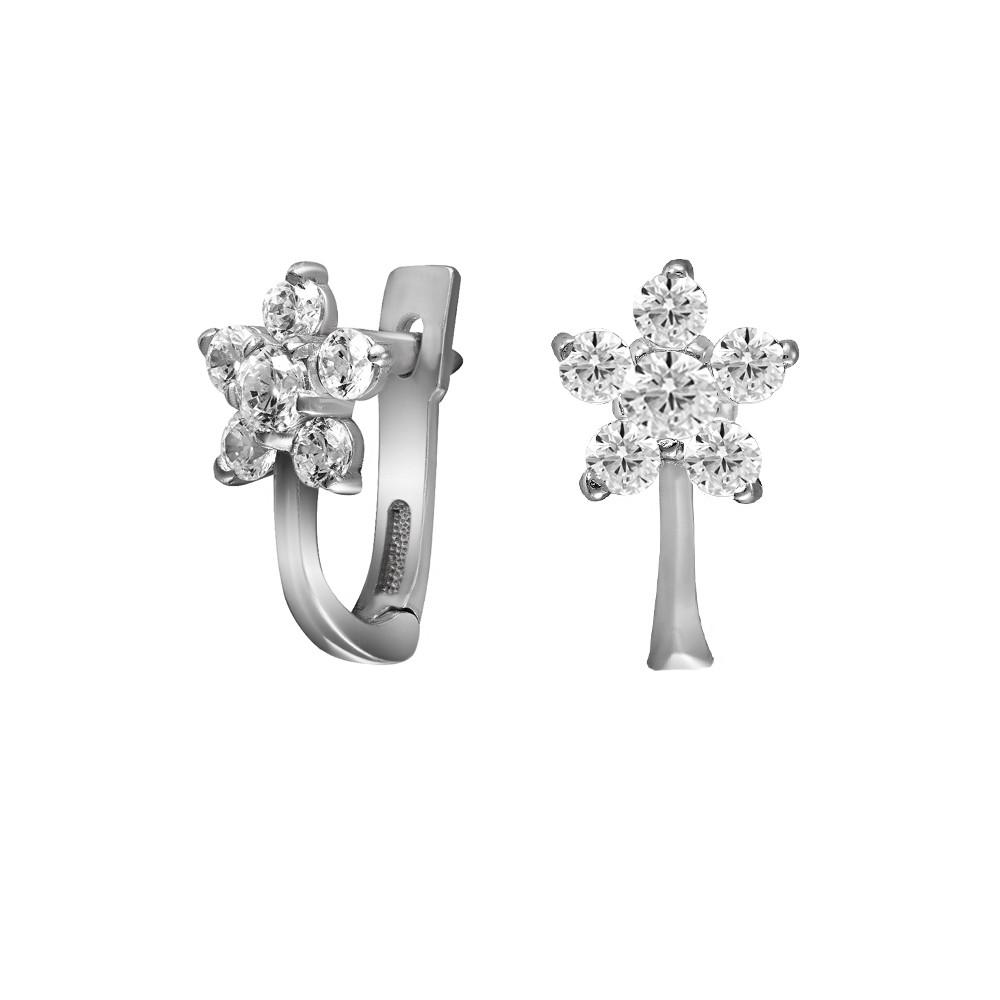 Серьги Twiddle jewelry с кубическим цирконием (С019)
