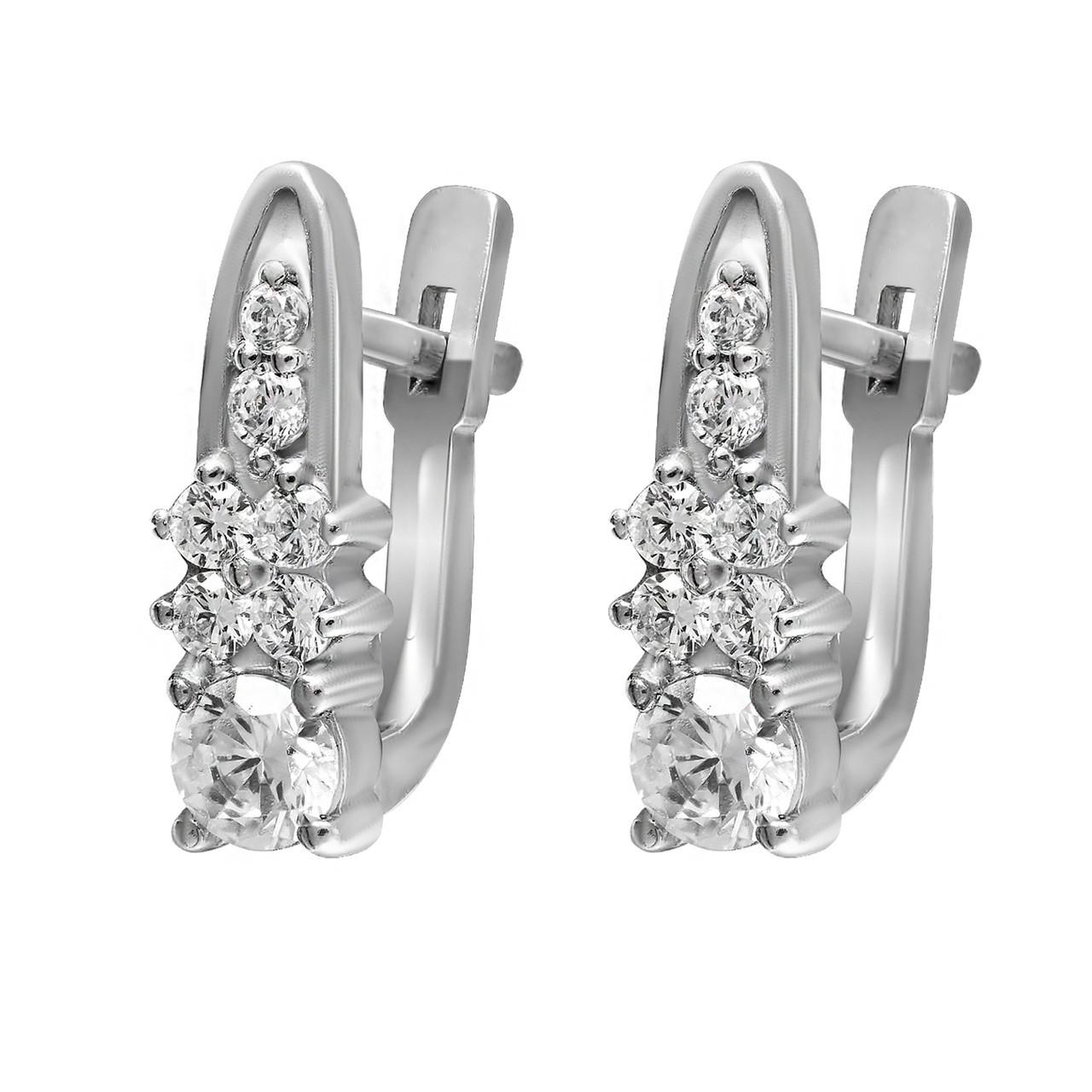 Серьги Twiddle jewelry с кубическим цирконием (С031)