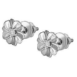 Серьги-пуссеты Twiddle jewelry с кубическим цирконием (С038)
