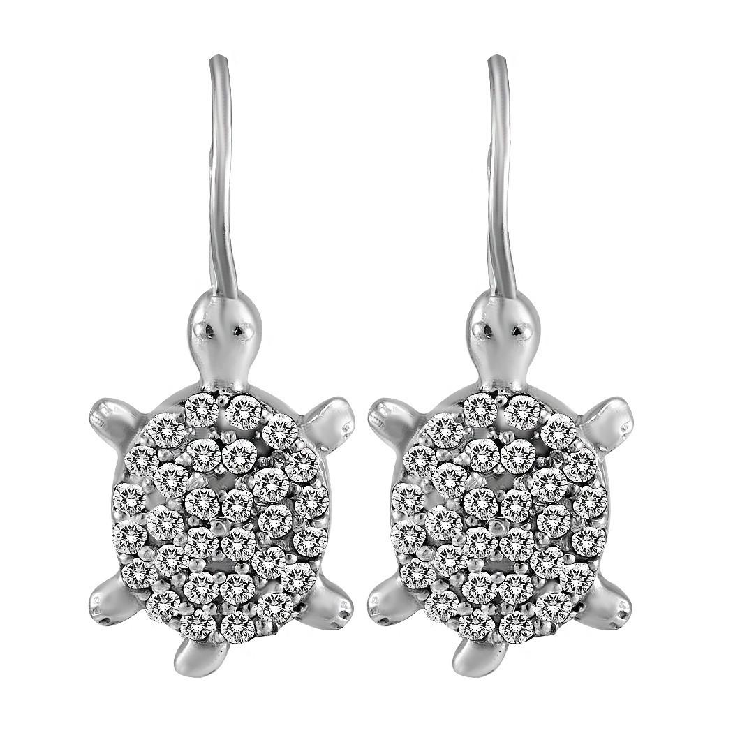 Серьги Twiddle jewelry с кубическим цирконием (С061)