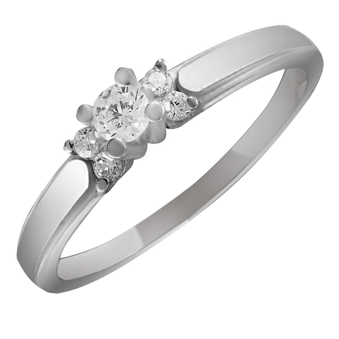 Кольцо из серебра с куб. циркониями Twiddle Jewelry 16.0 размер (К012-16.0)