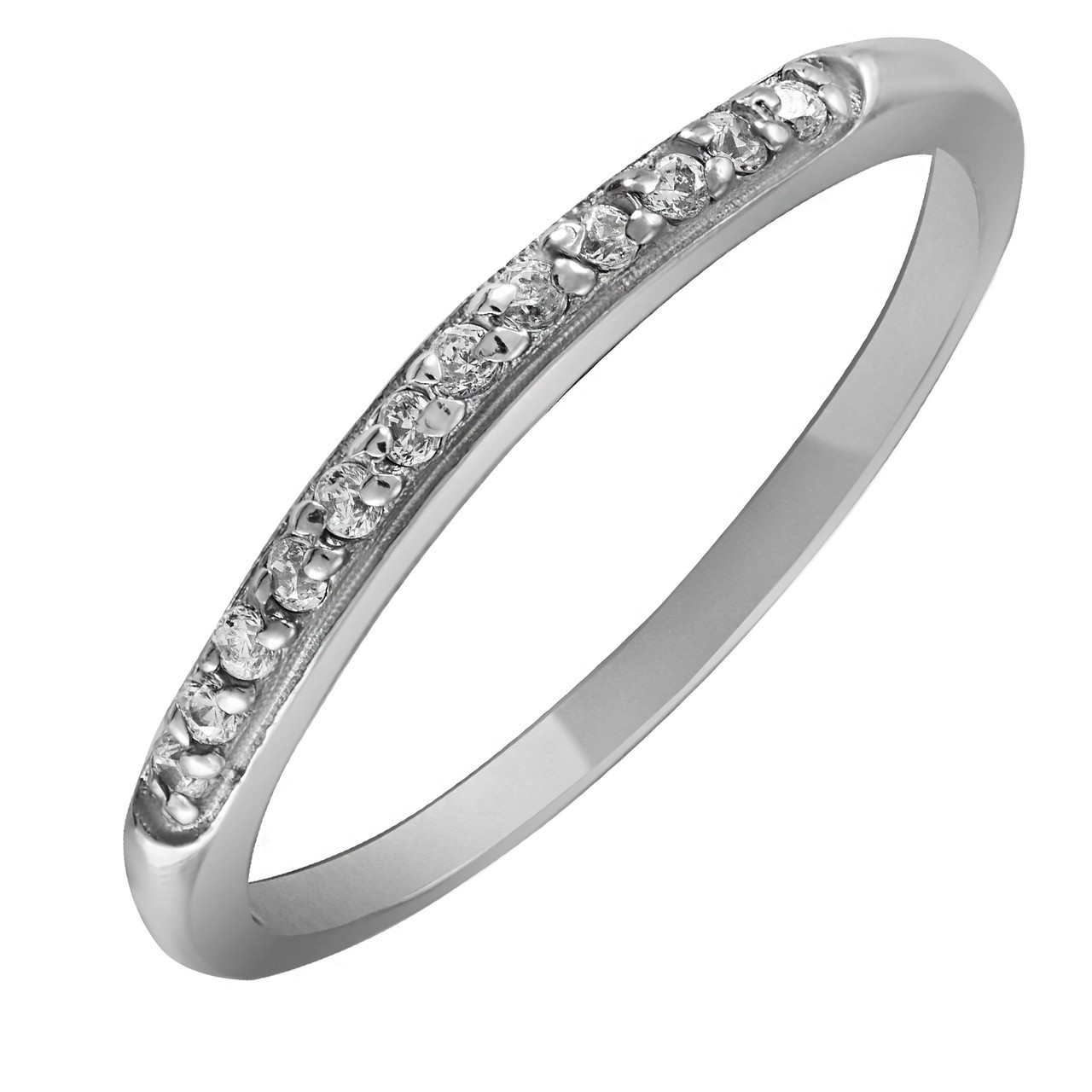 Кольцо из серебра с куб. циркониями Twiddle Jewelry 21.0 размер (К014-21.0)