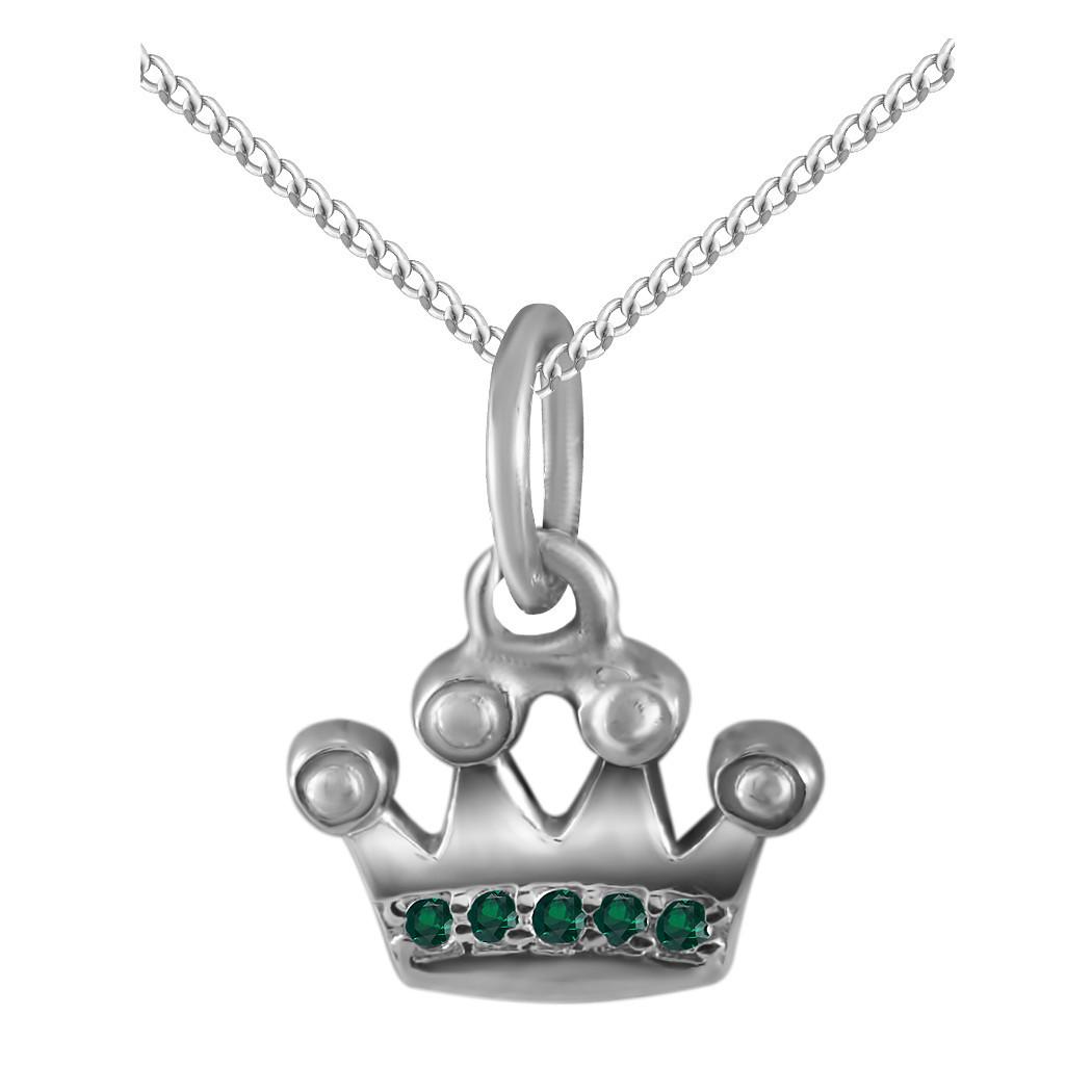 Кулон из серебра с кубическими циркониями Twiddle Jewelry Зеленый (П126з)