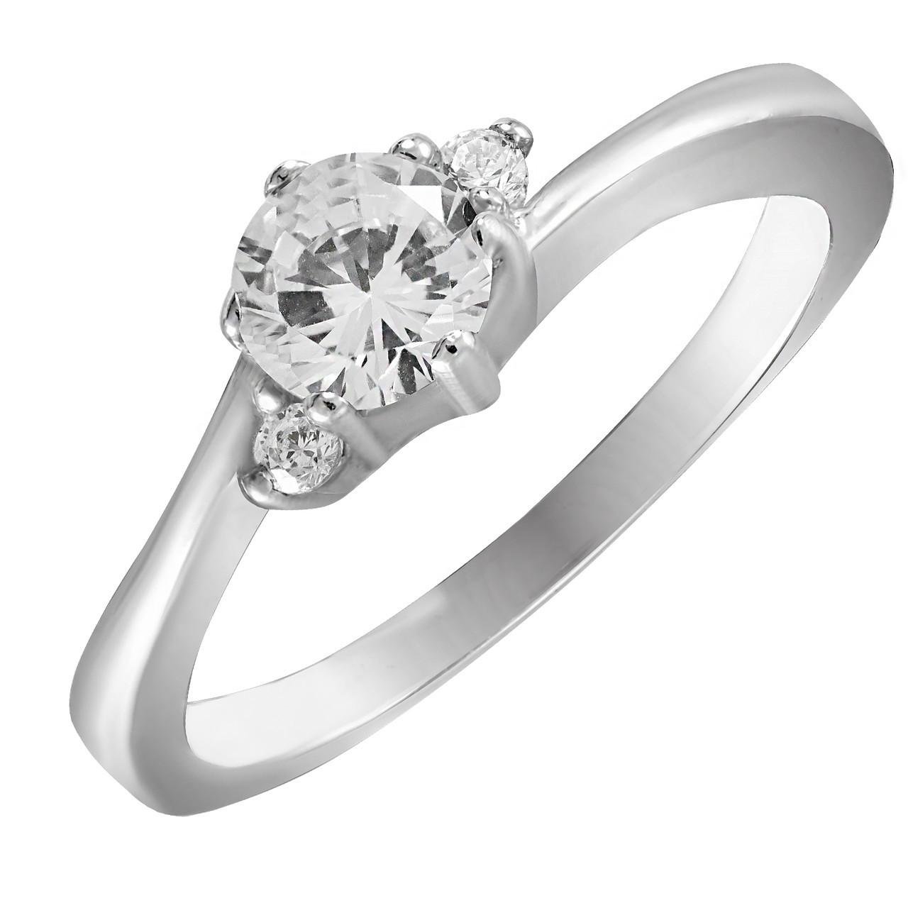 Кольцо из серебра с кубическим цирконием Twiddle Jewelry 18.0 размер (К019-18.0)