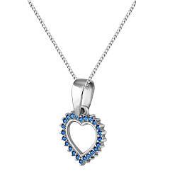 Кулон из серебра с кубическими циркониями Twiddle Jewelry Синий (П112с)