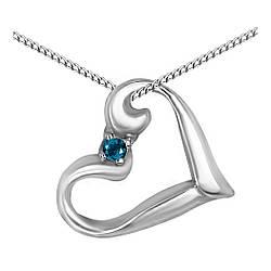 Кулон из серебра с кубическим цирконием Twiddle Jewelry Синий (П123с)